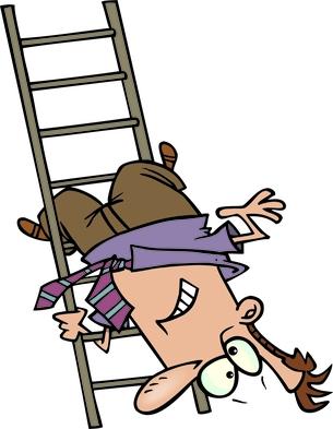 BE cartoon ladder fail DP