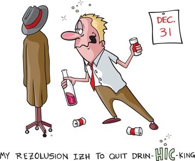 BE new years resolution cartoon DP